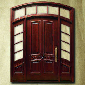 2 beautiful wood main door designs in india and nepal for Single door designs for indian homes