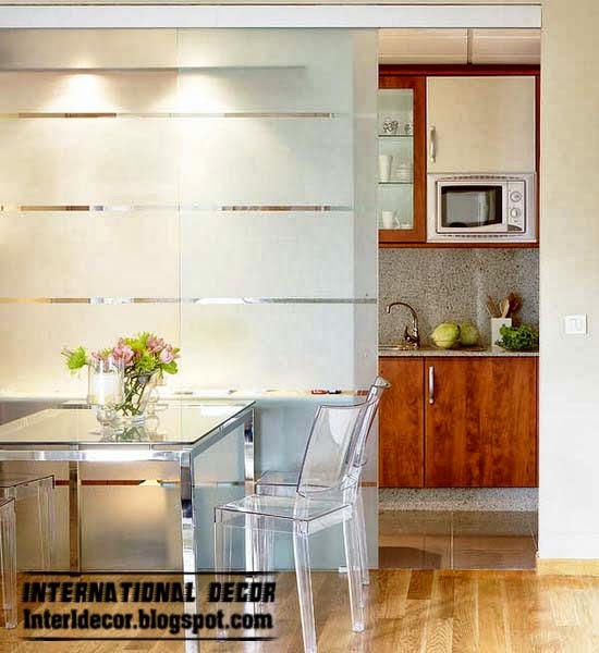 Sliding doors materials and structures in the modern style for Sliding glass door styles