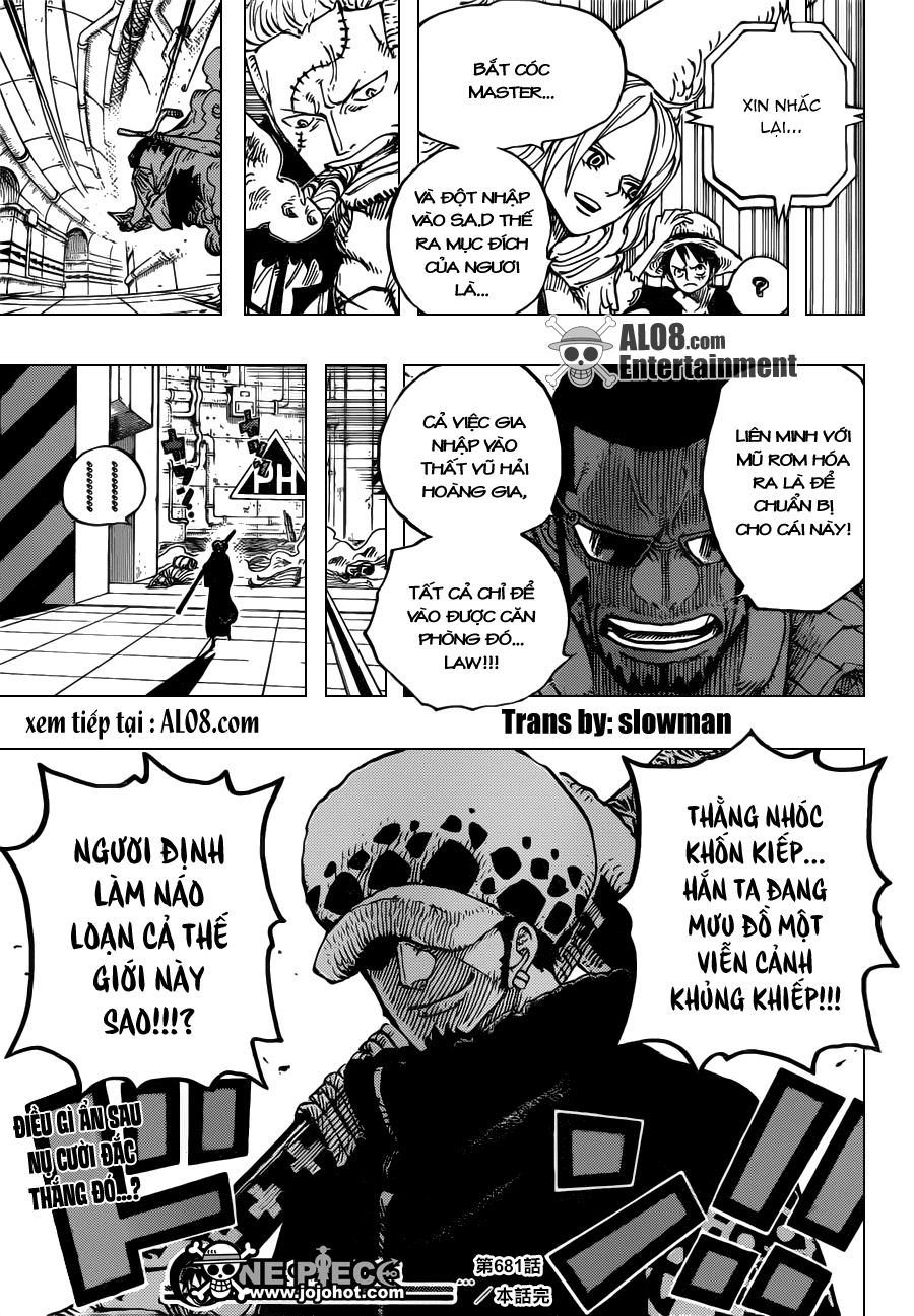 One Piece Chapter 681: Hải tặc Luffy vs. Master 019