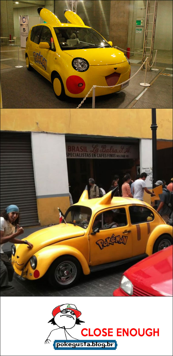 carros pikachu