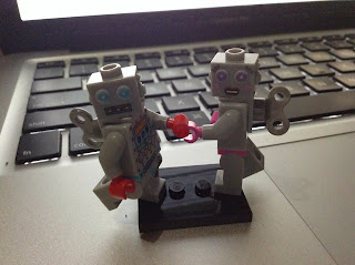 Lego Mini Figures, Retro Robots
