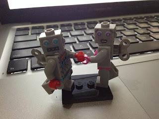 Lego Mini Figures, Retro Robots