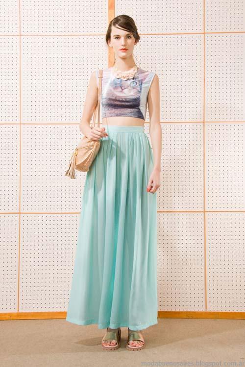 Maxifaldas moda verano 2014 Las Pepas 2014.