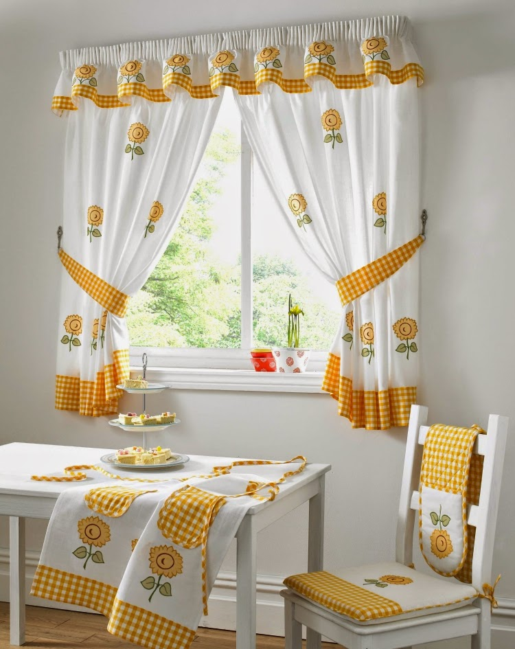 modern design for small window curtains for kitchen