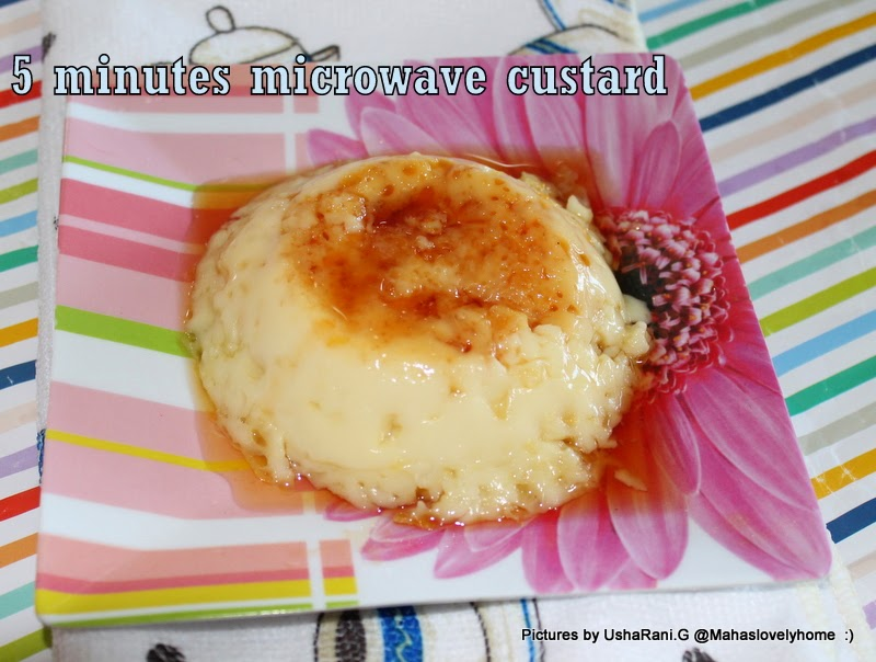 5 Minutes No Bake Microwave Caramel Custard Easy Recipes Quick And Desserts How To Make Creme Pudding In