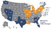 Electoral College map. Image from Wikimedia Commons. A level playing field?