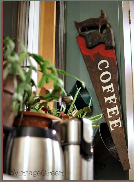 saw blade coffee sign
