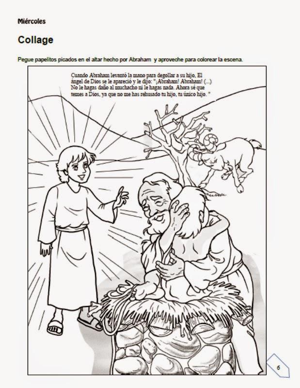 DIBUJOS Y CANCION PARA LA CLASE - LA OBEDIENCIA DE ABRAHAM