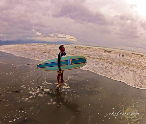 Awesome waves in Baler perfect for surfing
