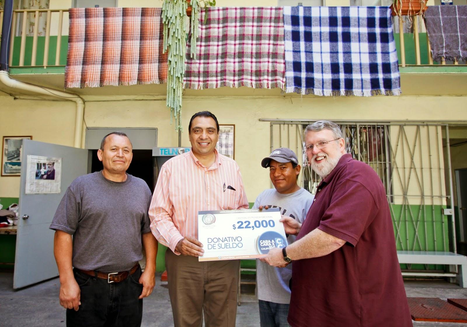 Rosarito en la noticia exhorta dip temo cardona apoyar for Mural de la casa del migrante