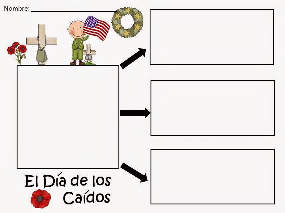 http://www.teacherspayteachers.com/Product/A-El-Dia-de-los-CaidosThree-Spanish-Graphic-Organizers-687586