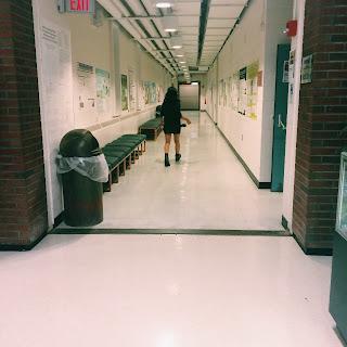long school hallway