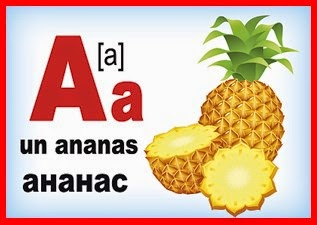 Карточка французской буквы A