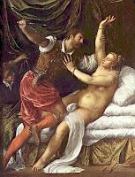 Tiziano - Tarquino y Lucrecia