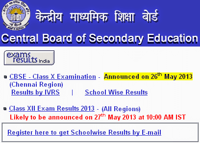 cbse 2013 result for class xii exam