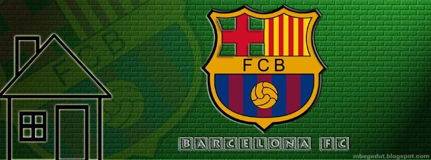 Barcelona FC Facebook Cover Green Brick ( download )