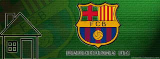 Barcelona FC Facebook Cover Green Brick