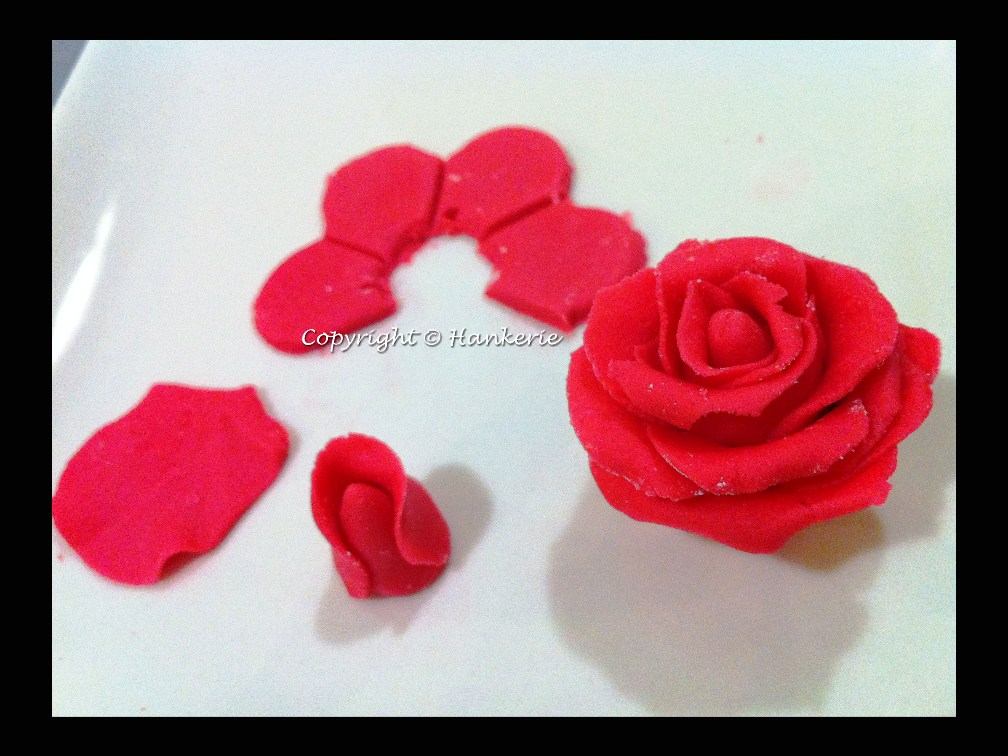 Edible Red Rose Cake Toppers