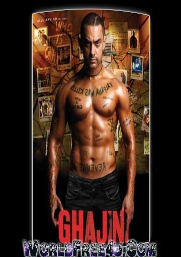 Poster Of Hindi Movie Ghajini (2008) Free Download Full New Hindi Movie Watch Online At worldfree4u.com