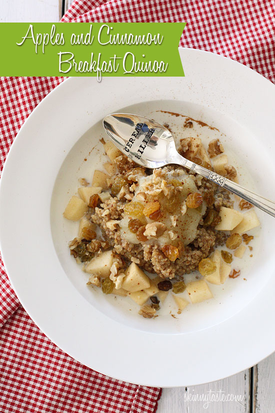 Apples and Cinnamon Breakfast Quinoa | Skinnytaste