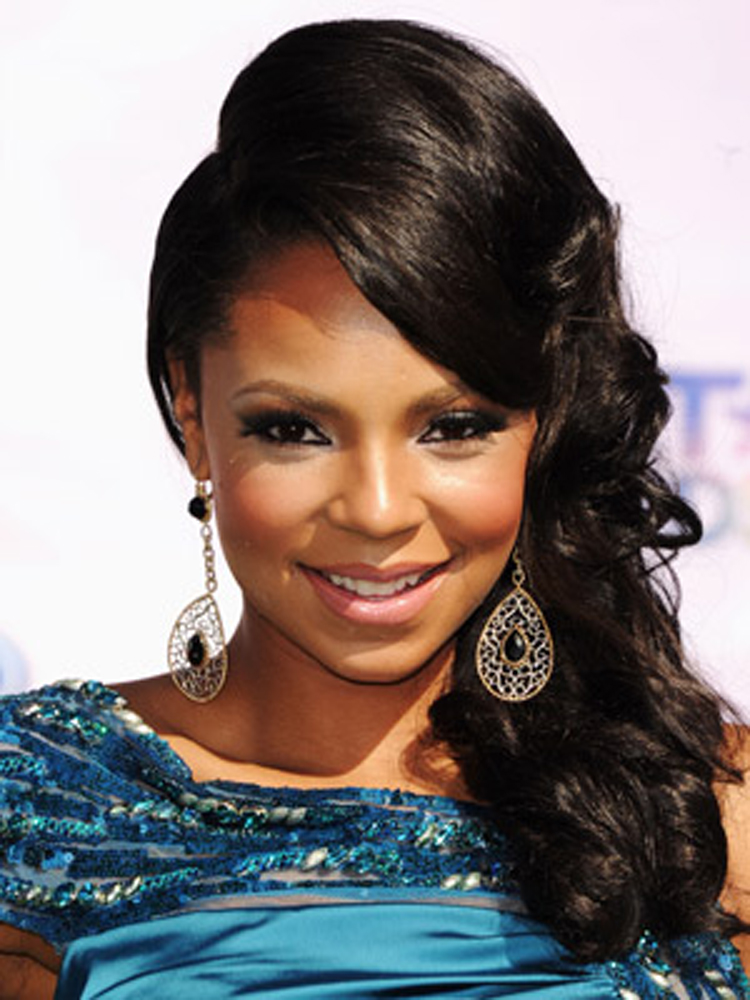 Popular Celebrity Curly Hairstyles Ashanti Celebrity