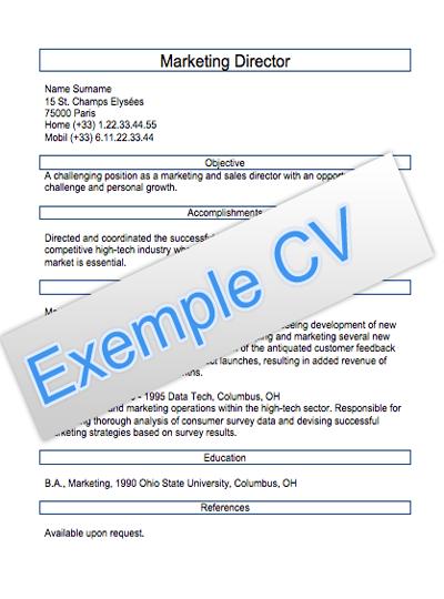 Modèles de CV anglais ~ les offres d'emploi a Casablanca