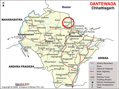 Dantewada Map