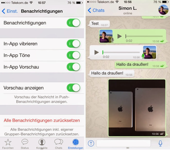WhatsApp for IOS 7 APP