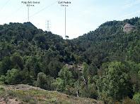 El Puig dels Jueus i el Coll Pedrís des del camí de Collsameda