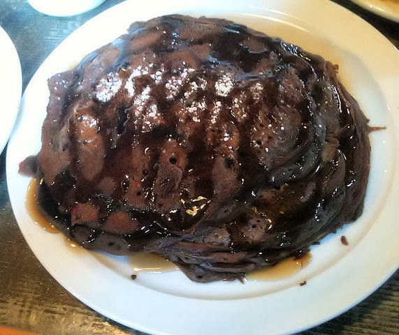 Healthy Vegan Chocolate Pancake Recipe Image