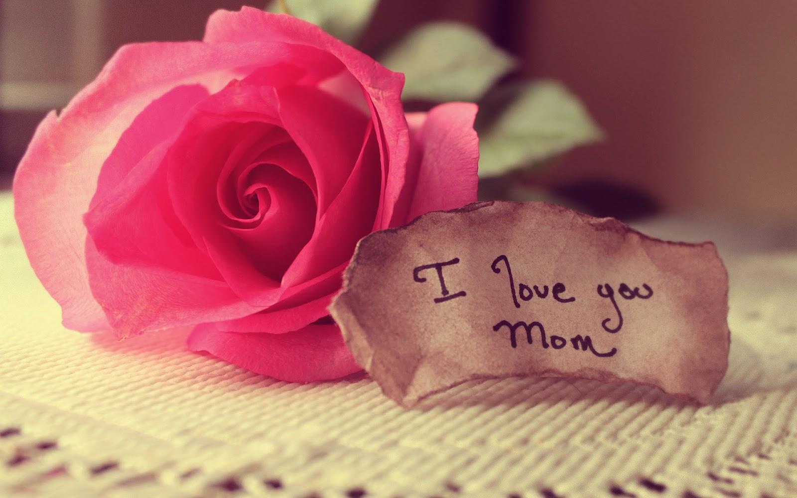 Briefje met de tekst i love you mom mooie leuke achtergronden briefje met de tekst i love you mom voltagebd Images