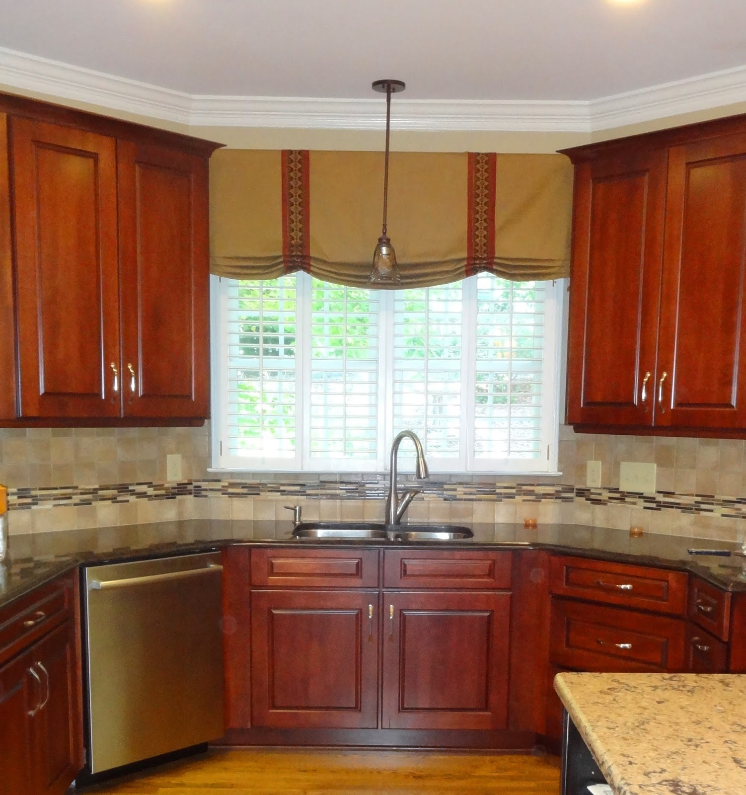 Wood Valance Over Kitchen Sink: Window Treatments Greensboro
