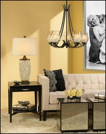 Old Hollywood glam style living room decorating ideas