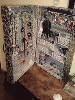 arte en tus manos: armario joyero con dos cajas de fruta recicladas - Imagenes De Armarios Hecho Con Cajas Recicladas