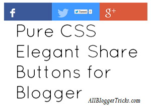 Share button Blogger