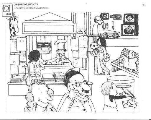 Dibujos de absurdos visuales para colorear - Imagui