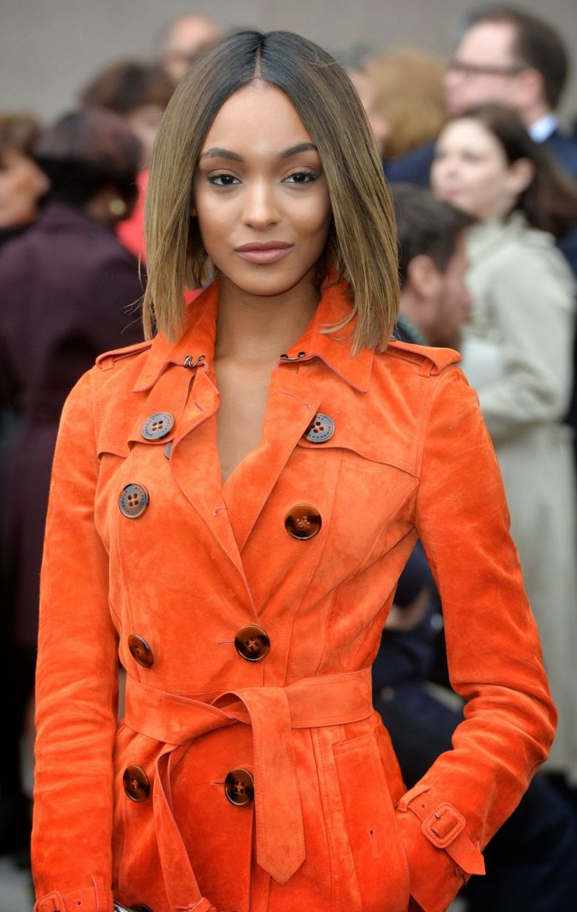 Jourdan Dunn Looks Spicy Cute at Burberry Prorsum Fashion Show