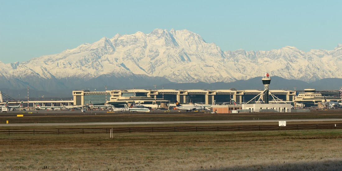 Snow capped mountains, Malpensa