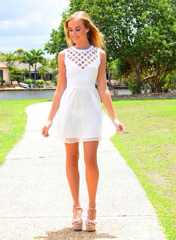 I Choose These White Dresses as 8th Grade Graduation ...