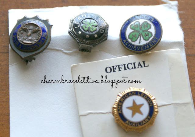 Vintage achievement pins 4-H, American Legion