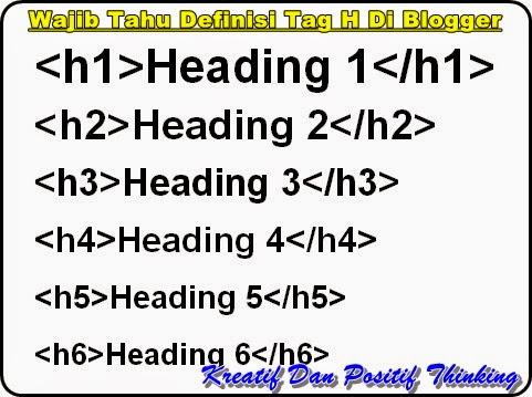 Wajib Tahu Definisi Tag Heading di Blogger