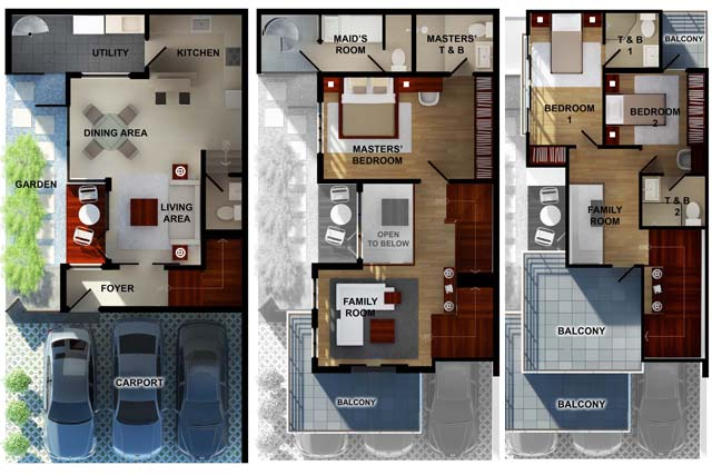 Apartment Type House Plans