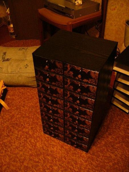 Тумбочка из коробочек