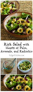 Rich Salad with Hearts of Palm, Avocado, and Radicchio [found on KalynsKitchen.com]