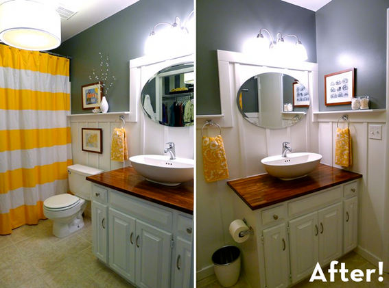 Bathroom Yellow And Gray creatively christy: yellow and grey