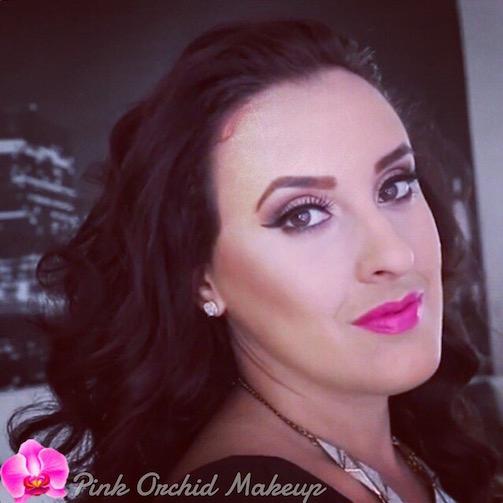 Voluminous-Hair-Pink-Orchid-Makeup