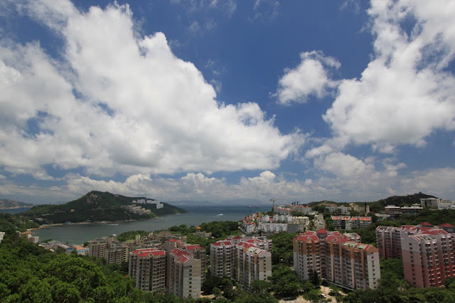 We are on the top of the hill in Stanley, Hong Kong