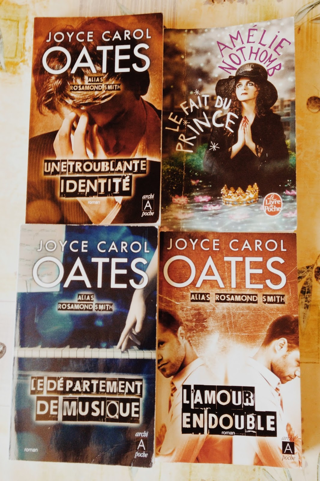 Couvertures Joyce Carol Oates Amelie Nothomb