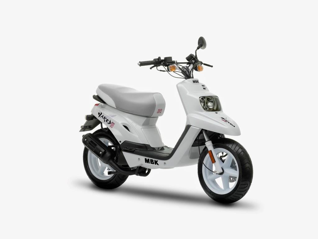 MBK Booster Naked White Scooters Images