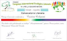 Mención de honor Primer Congreso Internacional Ecológico Literario   13.04.2013
